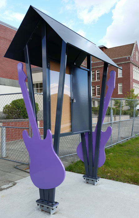 Jimi Hendrix Kiosk - Powder Coat