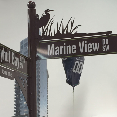 Powder Coating on Street Sign