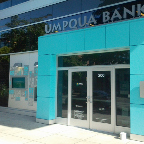 New Finishes Electrostatic Paint Umpqua Bank