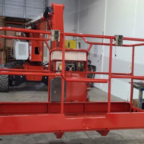 Heavy Equipment Paint Job - Red