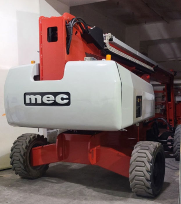 Heavy Equipment Paint Job - Red and Gray